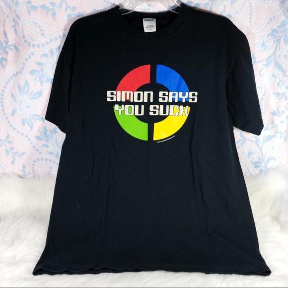 "Y2K ""Simon Says You Suck"" Grunge T-Shirt"